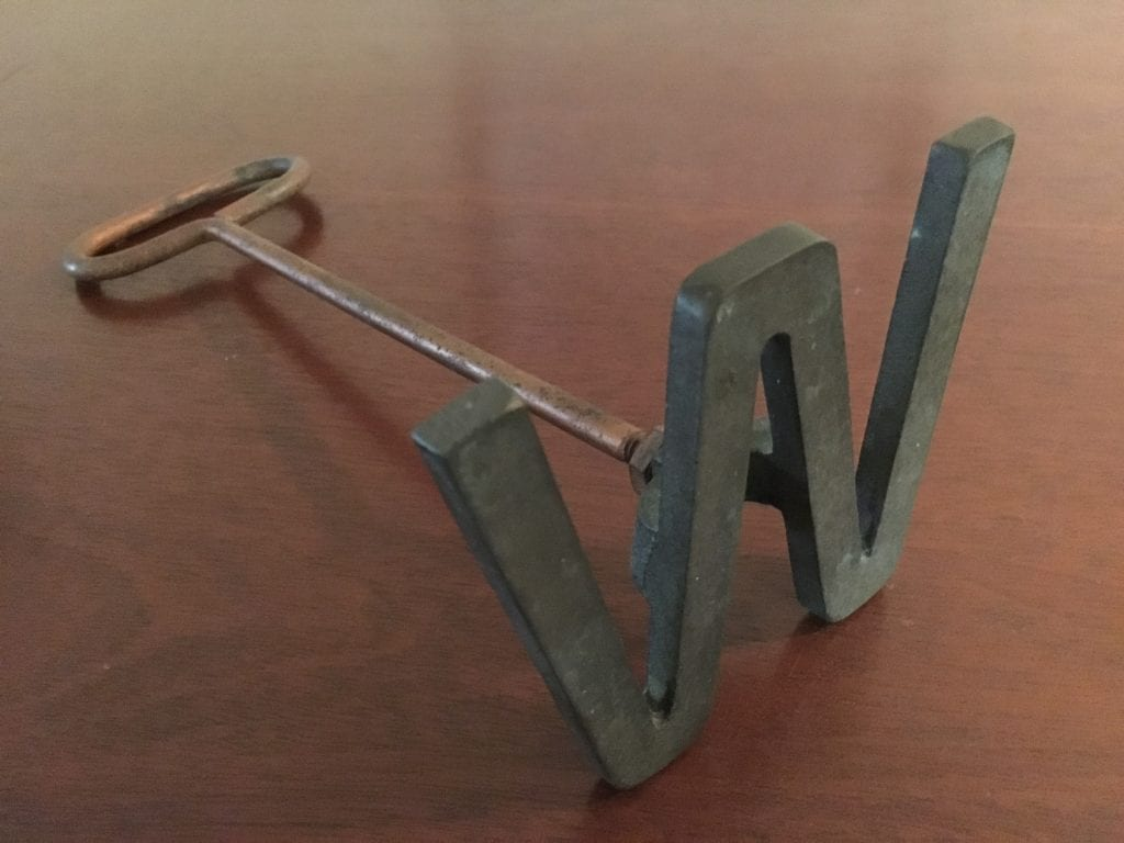 W branding iron