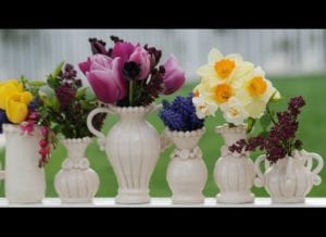 White Vases with Flowers